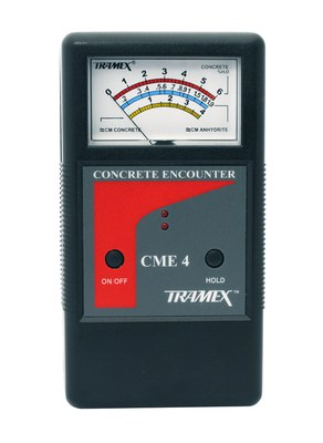Concrete Encounter CME4, moisture meter