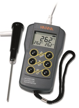 K-Type Waterproof Thermocouple Thermometer Thermometers Hanna instruments
