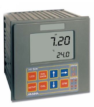 HI-504 Series pH/ORP Controller with Tele-Control and Sensor Check ph meters