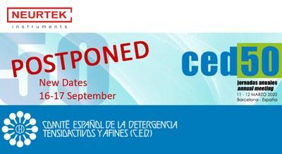 CED 50 postponed to September