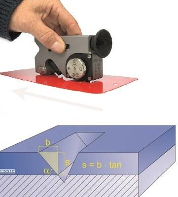 Paint Inspection Gauge Super PIG - destructive coating thickness