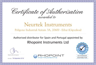 Certificado Rhopoint Neurtek