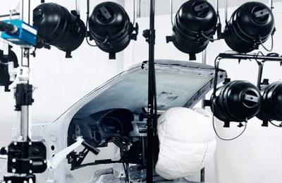 Instalación de pruebas de airbags