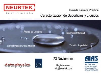 Caracterización de Superficies y Líquidos - Jornada Técnico Práctica en AIAS