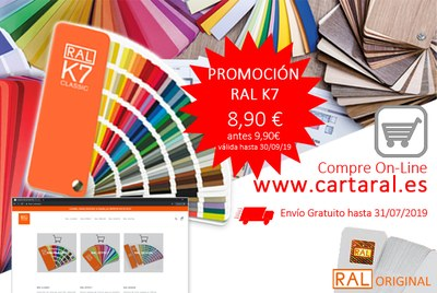 Cartas de colores RAL en Promoción.