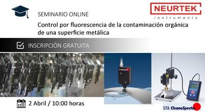 ¿Contaminación orgánica en Superficie Metálica? Control por Fluorescencia. Webinar Gratuito.