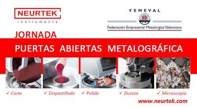Jornada de Puertas Abiertas Metalográficas en FEMEVAL
