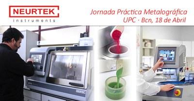 Jornada Práctica Metalográfica  en la UPC de BCN 18 Abril