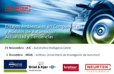 Jornada Técnica de Ensayos Ambientales en Componentes y Módulos de Automoción