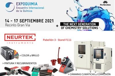 NEURTEK acude a Expoquimia con las últimas novedades en instrumentos de control de calidad
