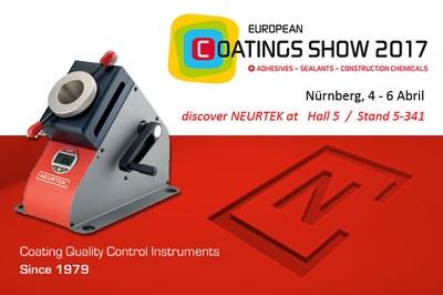 NEURTEK acude como expositor a la European Coating Show 2017