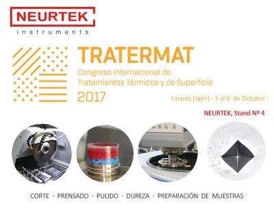 NEURTEK apoya la investigación de superficies con stand en TRATERMAT