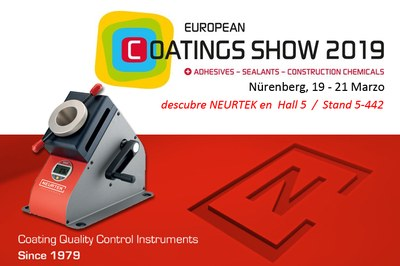 NEURTEK expondrá en la European Coating Show 2019