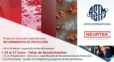 Especialízate con ASTM en Recubrimientos de Protección.