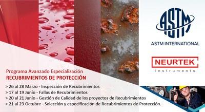 NEURTEK patrocina el curso ASTM - Inspección de Recubrimientos de Protección