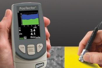 Nueva sonda PosiTector 6000 FNDS para medición dual de capa: zinc + pintura