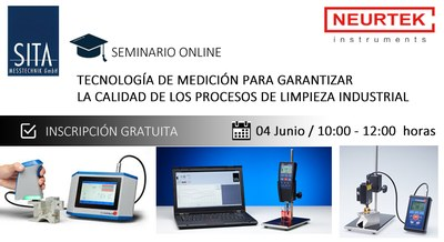 """Seminario Online: """"Tecnología de medición para garantizar la calidad de los procesos de limpieza industrial"""""""