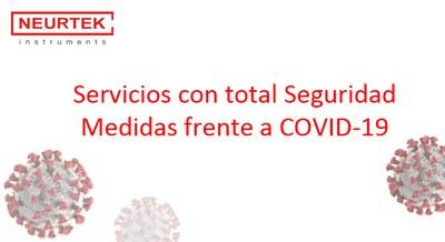 Servicio con total seguridad. Medidas frente a Covid-19