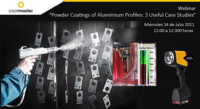 Webinar Coatmaster: Recubrimiento en polvo de perfiles de aluminio.