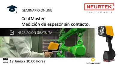 Webinar Gratuita. Coatmaster: Medidor de espesor sin contacto.