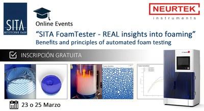 Webinar Gratuita. SITA FoamTester: una visión real de la formación de espuma.