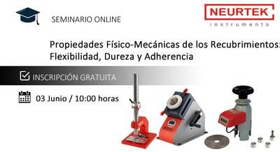 Webinar Gratuito. Propiedades Físico-Mecánicas de los recubrimientos: Flexibilidad, Dureza y Adherencia.