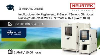 Webinar Gratuito. Reglamento F-Gas en Cámaras Climáticas. ¡Descubre elNuevo gas R469A (GWP1357)!