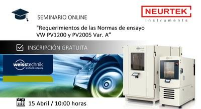 """Webinar Gratuito: """"Requerimientos de las Normas de ensayo VW PV1200 y PV2005 Var. A"""""""