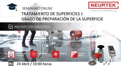 Webinar Gratuito. Tratamiento de Superficies I: Grado de Preparación de Superficies.