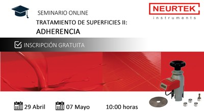 Webinar Gratuito. Tratamiento de Superficies II: Adherencia