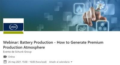 Webinar: Producción de Baterías, cómo generar una atmósfera de producción premium